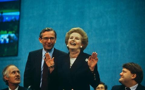 Norman Fowler pictured with his former boss Margaret Thatcher - Credit: Richard Baker/Corbis Historical