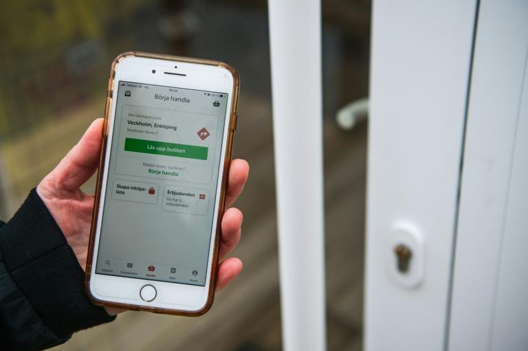 The smartphone app used to enter the store. Sweden is one of the most digitalised countries in the world