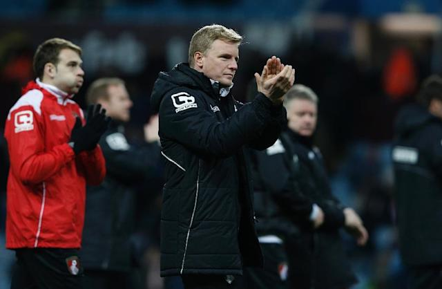 Eddie Howe has been named manager of the year after guiding Bournemouth to the Premier League for the first time (AFP Photo/Adrian Dennis)