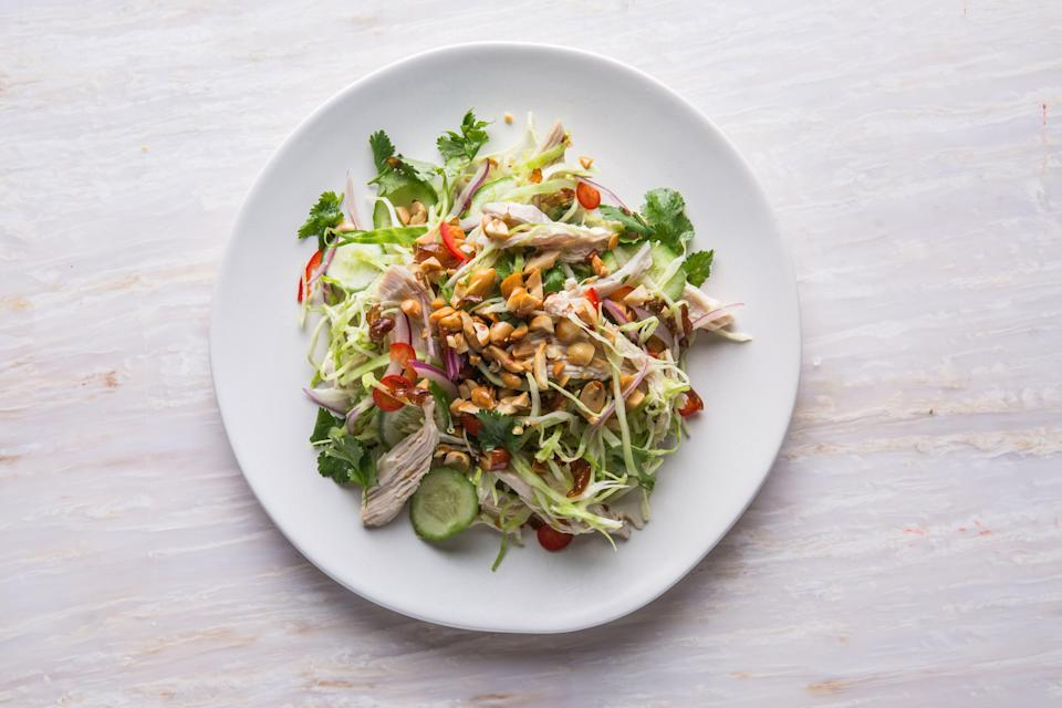 """<a href=""""https://www.bonappetit.com/recipe/spicy-chicken-and-cabbage-salad?mbid=synd_yahoo_rss"""" rel=""""nofollow noopener"""" target=""""_blank"""" data-ylk=""""slk:See recipe."""" class=""""link rapid-noclick-resp"""">See recipe.</a>"""