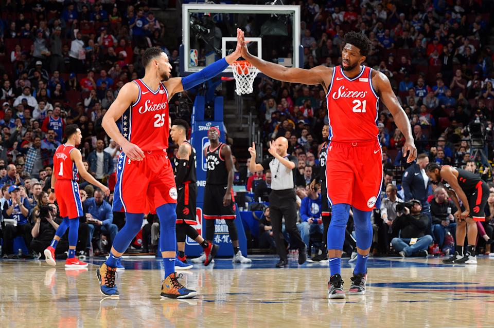 Ben Simmons and Joel Embiid now get to play with Tobias Harris and Jimmy Butler. (Getty)