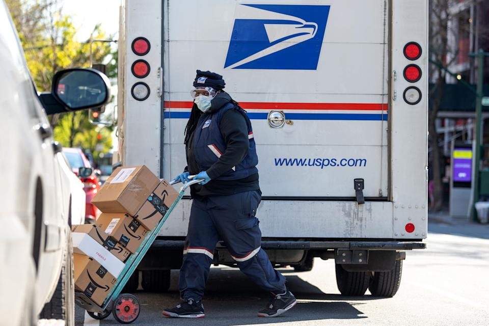 The U.S. Postal Service, especially essential during coronavirus lockdowns, has been in the crosshairs of President Donald Trump as he looks to undermine mail-in voting. (Photo: Alexi Rosenfeld via Getty Images)