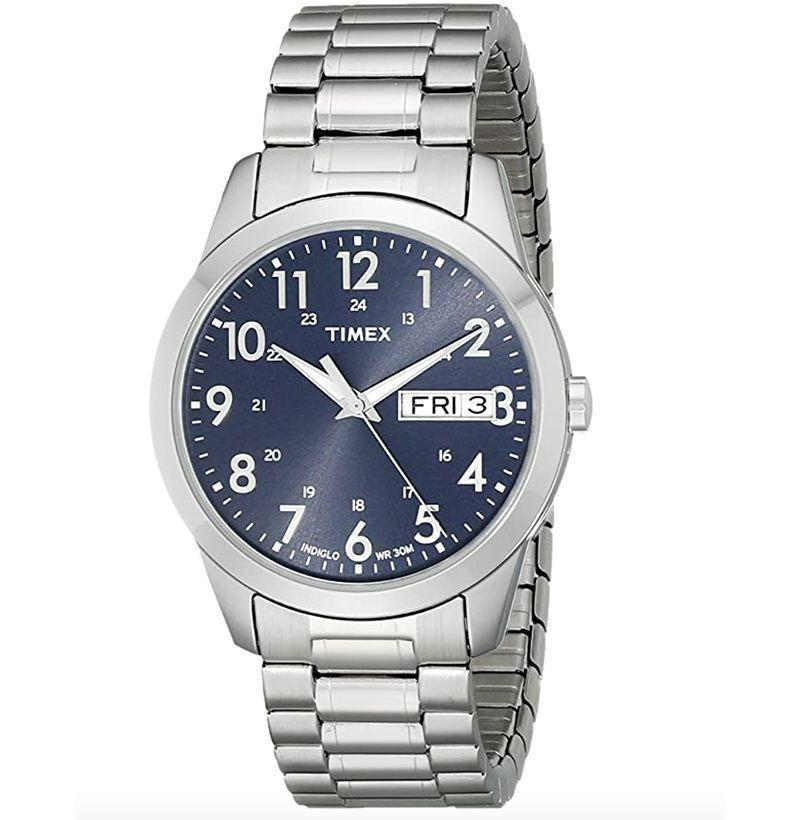 """<p><strong>Timex</strong></p><p>amazon.com</p><p><strong>$39.00</strong></p><p><a href=""""https://www.amazon.com/dp/B001RNOAM8?tag=syn-yahoo-20&ascsubtag=%5Bartid%7C10054.g.35351418%5Bsrc%7Cyahoo-us"""" rel=""""nofollow noopener"""" target=""""_blank"""" data-ylk=""""slk:Shop Now"""" class=""""link rapid-noclick-resp"""">Shop Now</a></p><p>The only time being really, truly blue in the face is an appropriate look. </p>"""