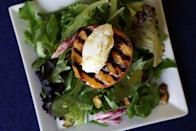 """<p>Juicy summer peaches are delicious enough as it is, and when you take them to the grill, the result is pure heaven. </p> <p><strong>Get the recipe:</strong> <a href=""""https://www.popsugar.com/food/Grilled-Peach-Salad-Recipe-9070156"""" class=""""link rapid-noclick-resp"""" rel=""""nofollow noopener"""" target=""""_blank"""" data-ylk=""""slk:grilled peach salad with goat cheese"""">grilled peach salad with goat cheese</a></p>"""