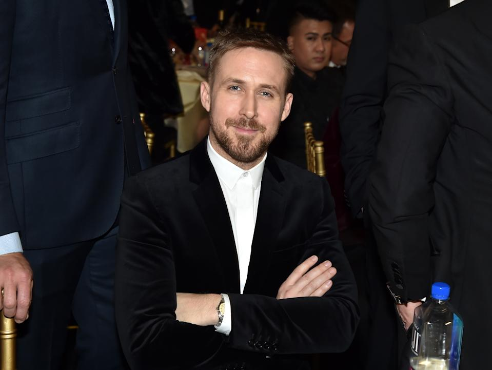 SANTA MONICA, CALIFORNIA - JANUARY 13: Ryan Gosling at The 24th Annual Critics' Choice Awards at Barker Hangar on January 13, 2019 in Santa Monica, California. (Photo by Jeff Kravitz/FilmMagic)