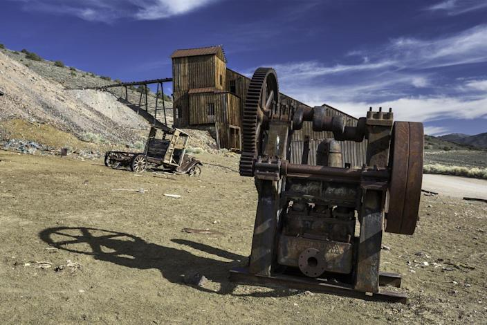 <p>The Berlin Historic District was founded in 1897 as part of the mining boom, but never saw the success of other nearby towns and was largely abandoned by 1911. It's now part of a Nevada State Park.</p>