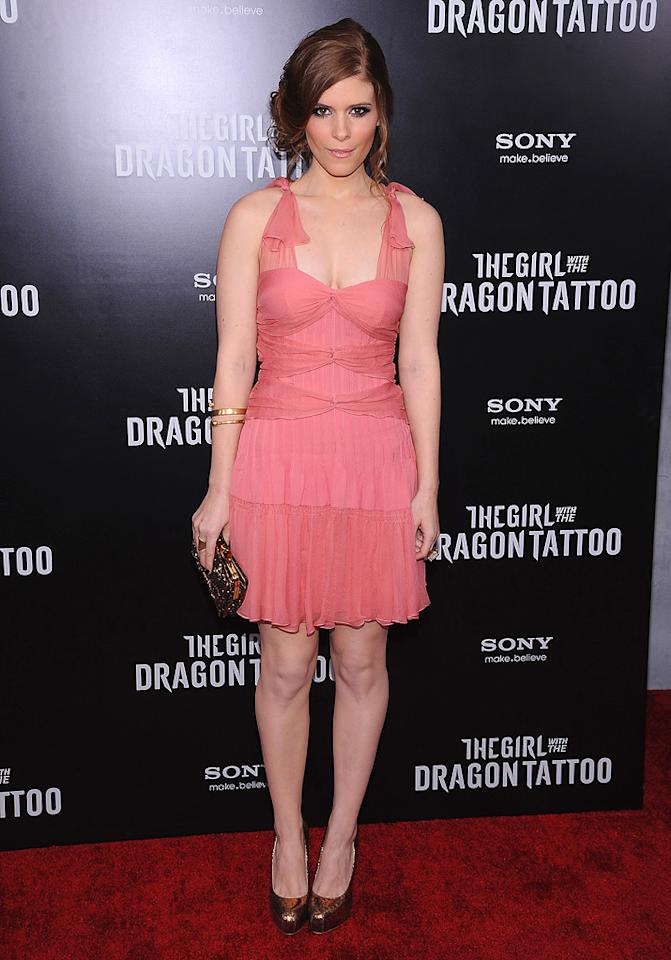 """<a href=""""http://movies.yahoo.com/movie/contributor/1804511837"""">Kate Mara</a> at the New York premiere of <a href=""""http://movies.yahoo.com/movie/1810163569/info"""">The Girl With the Dragon Tattoo</a> on December 14, 2011."""