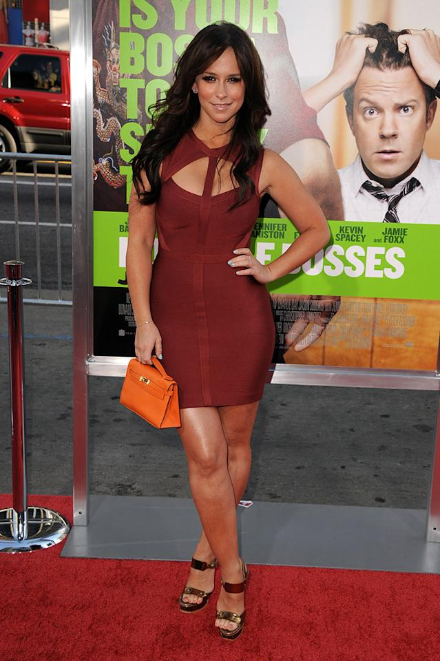 "<a href=""http://movies.yahoo.com/movie/contributor/1800018784"">Jennifer Love Hewitt</a> at the Los Angeles premiere of <a href=""http://movies.yahoo.com/movie/1810161382/info"">Horrible Bosses</a> on June 30, 2011."
