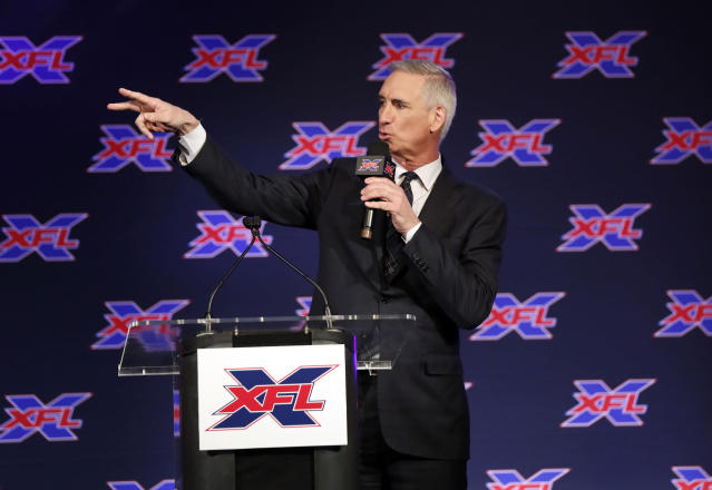 XFL Commissioner and CEO Oliver Luck says the league has learned a lot from the failure of the Alliance of American Football. (AP)