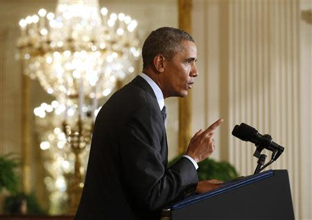 "Obama announces ""Promise Zones"" at the White House in Washington"
