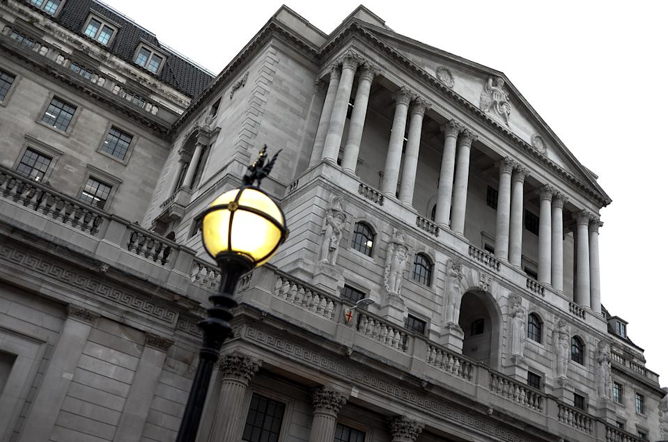 View of the Bank of England, Central London on October 25, 2019. (Photo by Alberto Pezzali/NurPhoto via Getty Images)