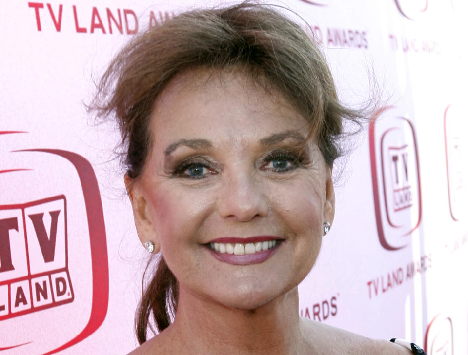 "FILE - In this June 8, 2008 file photo, actress Dawn Wells arrives at the TV Land Awards in Santa Monica, Calif. Wells, who played the wholesome Mary Ann among a misfit band of shipwrecked castaways on the 1960s sitcom ""Gilligan's Island, died Wednesday, Dec. 30, 2020, of causes related to COVID-19, her publicist said.(AP Photo/Matt Sayles)"