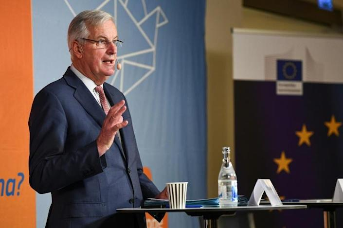 Michel Barnier will lead EU negotiations with Britain over post-Brexit ties (AFP Photo/Jonathan NACKSTRAND)