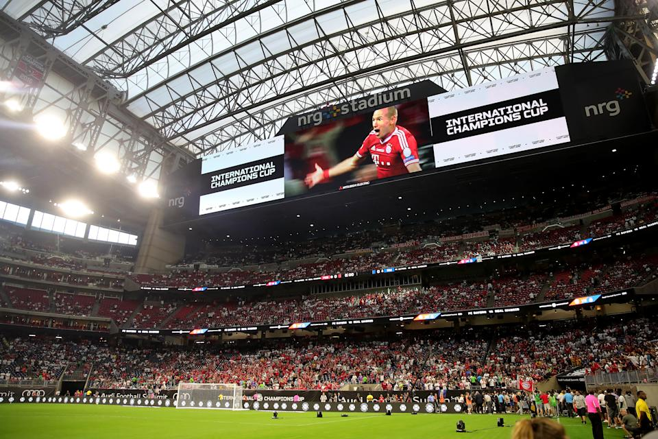 HOUSTON, TEXAS - JULY 20: A general view prior to the International Champions Cup match between Bayern Muenchen and Real Madrid in the 2019 International Champions Cup at NRG Stadium on July 20, 2019 in Houston, Texas.  (Photo by Alexander Hassenstein/Bongarts/Getty Images)