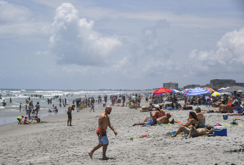 COCOA BEACH, FL - MAY 23: Cocoa Beach was crowded on Memorial Day weekend.. (Photo by Jonathan Newton/The Washington Post via Getty Images)