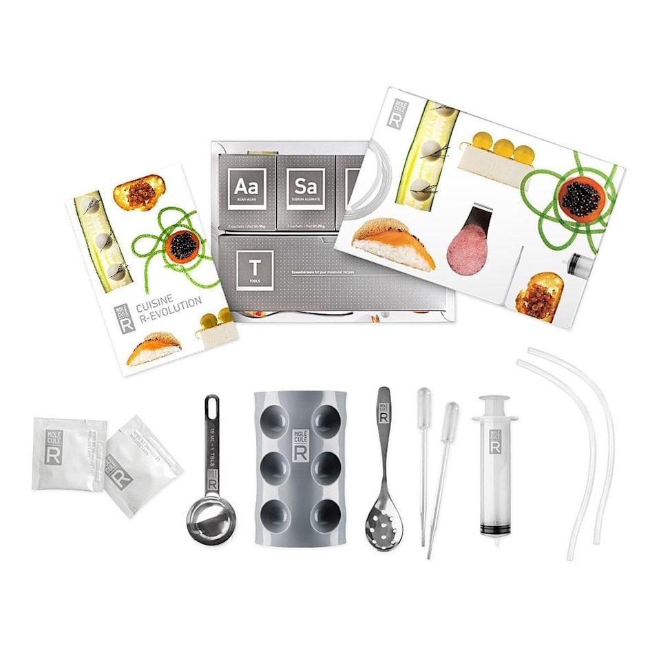 <p>The <span>Molecular Gastronomy Kit</span> ($65) is for the guy who has not stopped watching food network since stay-at-home started.</p>