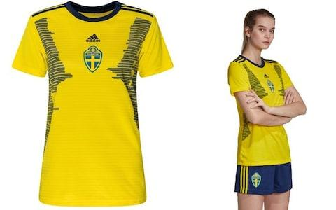 Sweden home kit, 2019 Women's World Cup - Credit: ADIDAS