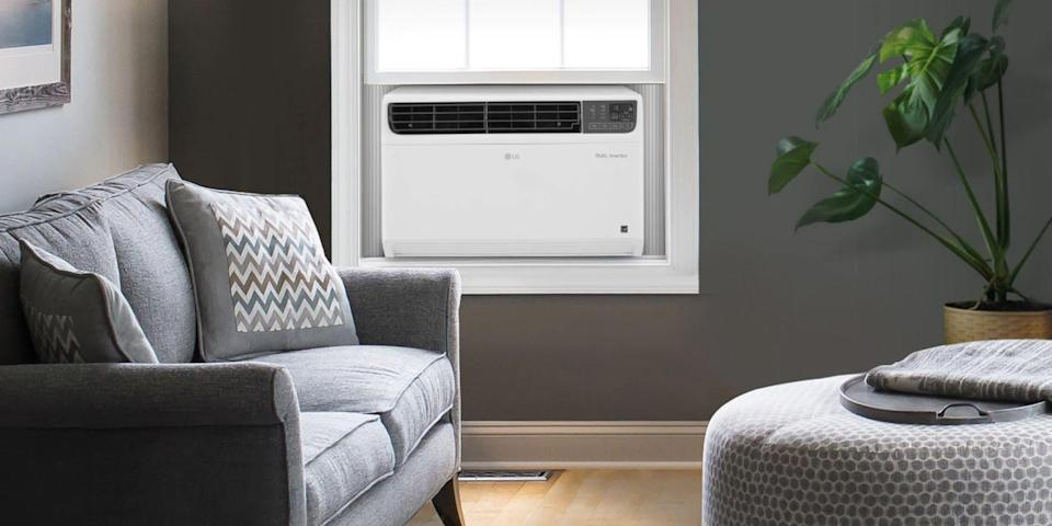 """<p>A Wi-Fi-connected air conditioner will allow you to effortlessly control it via a smartphone app, even if you're away from home. Many are also capable of responding to voice commands from a virtual assistant.<br> </p><h3 class=""""body-h3"""">Best Wi-Fi Air Conditioners</h3><ol><li><strong>Best Smart Window AC: </strong><a href=""""https://www.amazon.com/dp/B07D826M1Y?tag=syn-yahoo-20&ascsubtag=%5Bartid%7C2089.g.3241%5Bsrc%7Cyahoo-us"""" rel=""""nofollow noopener"""" target=""""_blank"""" data-ylk=""""slk:LG LW1817IVSM Dual Inverter Smart Window Air Conditioner"""" class=""""link rapid-noclick-resp"""">LG LW1817IVSM Dual Inverter Smart Window Air Conditioner</a></li><li><strong>The Portable Pick:</strong> <a href=""""https://www.amazon.com/dp/B08886Q136?tag=syn-yahoo-20&ascsubtag=%5Bartid%7C2089.g.3241%5Bsrc%7Cyahoo-us"""" rel=""""nofollow noopener"""" target=""""_blank"""" data-ylk=""""slk:Midea Smartcool Portable Air Conditioner"""" class=""""link rapid-noclick-resp"""">Midea Smartcool Portable Air Conditioner</a></li><li><strong>Most Elegant Window Design:</strong> <a href=""""https://www.amazon.com/dp/B0866Y33PL?tag=syn-yahoo-20&ascsubtag=%5Bartid%7C2089.g.3241%5Bsrc%7Cyahoo-us"""" rel=""""nofollow noopener"""" target=""""_blank"""" data-ylk=""""slk:Midea U Inverter Smart Window Air Conditioner"""" class=""""link rapid-noclick-resp"""">Midea U Inverter Smart Window Air Conditioner</a></li><li><strong>Most Versatile Connectivity: </strong><a href=""""https://www.amazon.com/dp/B083V86868?tag=syn-yahoo-20&ascsubtag=%5Bartid%7C2089.g.3241%5Bsrc%7Cyahoo-us"""" rel=""""nofollow noopener"""" target=""""_blank"""" data-ylk=""""slk:Haier QHC08LX Smart Window Air Conditioner"""" class=""""link rapid-noclick-resp"""">Haier QHC08LX Smart Window Air Conditioner</a></li><li><strong>Stylish and Portable: </strong><a href=""""https://go.redirectingat.com?id=74968X1596630&url=https%3A%2F%2Fwww.walmart.com%2Fip%2FFrigidaire-Cool-Connect-Smart-Portable-Air-Conditioner-with-Wi-Fi-Control-for-a-Room-up-to-600-Sq-Ft%2F635409323&sref=https%3A%2F%2Fwww.bestproducts.com%2Fappliances%2Fsmall%2Fg3241%2Fsmart-wif"""