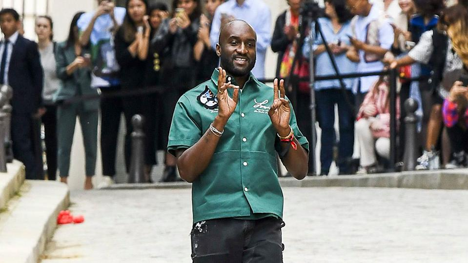 Virgil Abloh on the catwalk Louis Vuitton show, Runway, Spring Summer 2020, Paris Fashion Week Men's, France - 20 Jun 2019