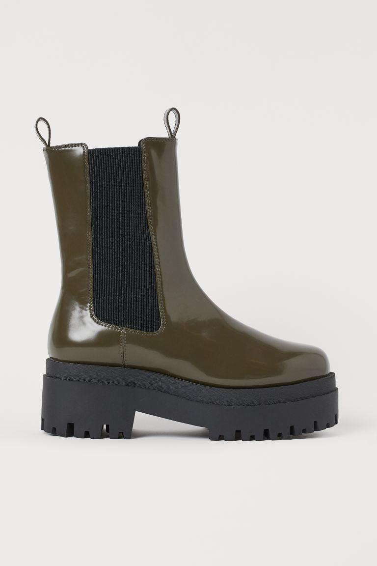 <p>These <span>H&amp;M Platform Chelsea-style Boots</span> ($40) will go with everything in your closet.</p>