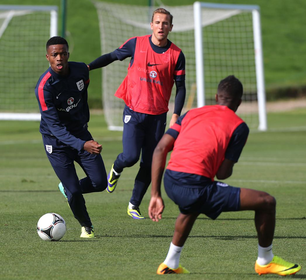 England's U21 player Nathaniel Chalobah during a training session at St George's Park, Burton.