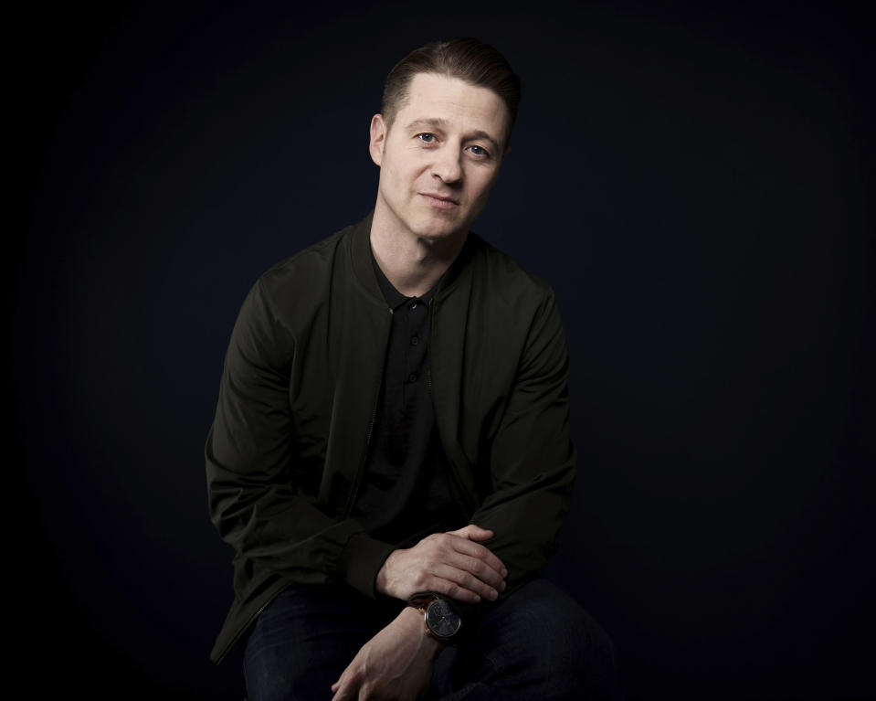 """FILE - In this March 26, 2018 file photo, actor Ben McKenzie poses for a portrait in New York to promote his Fox series, """"Gotham."""" During the five years he's starred as Gotham City police detective and future commissioner James Gordon in the Batman prequel, McKenzie also wrote two episodes and directed three others. (Photo by Taylor Jewell/Invision/AP)"""