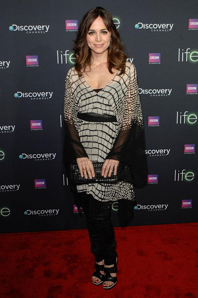 """<a href=""""/eliza-dushku/contributor/31454"""">Eliza Dushku</a> arrives at Discovery Channel's Los Angeles Screening of <a href=""""/life/show/44198"""">""""Life""""</a> at the Getty Center on February 25, 2010."""