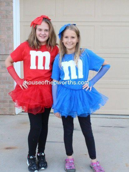"""<p>Girls will love rocking a tutu for this sweet sister Halloween look—and choosing their favorite shade of the chocolatey treat.</p><p><strong>Get the tutorial at <a href=""""http://www.houseofhepworths.com/2015/10/19/easy-diy-matching-mm-costumes/"""" rel=""""nofollow noopener"""" target=""""_blank"""" data-ylk=""""slk:House of Hepworths"""" class=""""link rapid-noclick-resp"""">House of Hepworths</a>.</strong></p><p><strong><a class=""""link rapid-noclick-resp"""" href=""""https://www.amazon.com/Kavio-Sleeve-Jersey-YJC0263-Cobalt/dp/B00B12FDDA/?tag=syn-yahoo-20&ascsubtag=%5Bartid%7C10050.g.21530121%5Bsrc%7Cyahoo-us"""" rel=""""nofollow noopener"""" target=""""_blank"""" data-ylk=""""slk:SHOP T-SHIRTS"""">SHOP T-SHIRTS</a></strong></p>"""