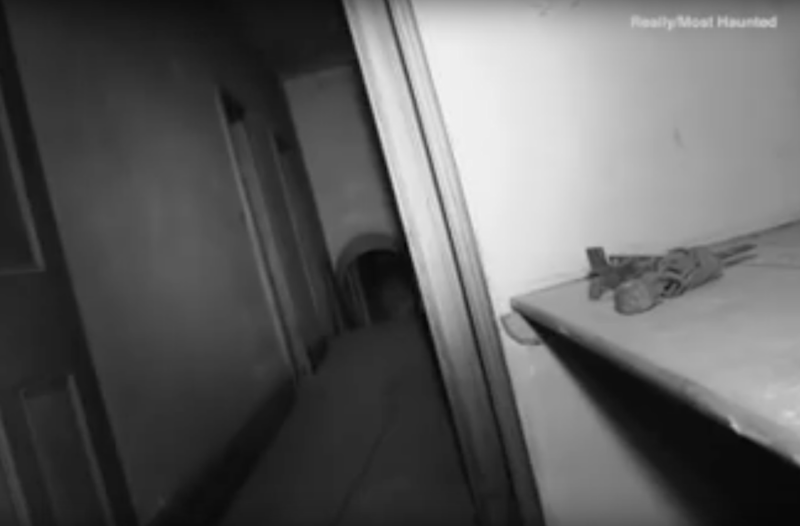 A ghostly figure appears at the end of the corridor. Photo: Youtube
