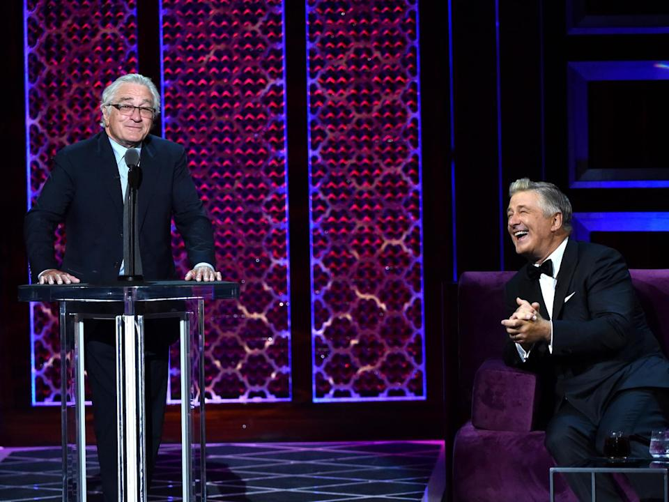 Robert De Niro made a surprise appearance at the Comedy Central Roast of Alec Baldwin: Getty Images for Comedy Central