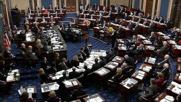 PHOTO: The Senate Chamber as members vote on the amendment offered by Senate Minority Leader Chuck Schumer in the impeachment trial against President Donald Trump, Jan. 21, 2020, at the U.S. Capitol in Washington, D.C. (ABC News)