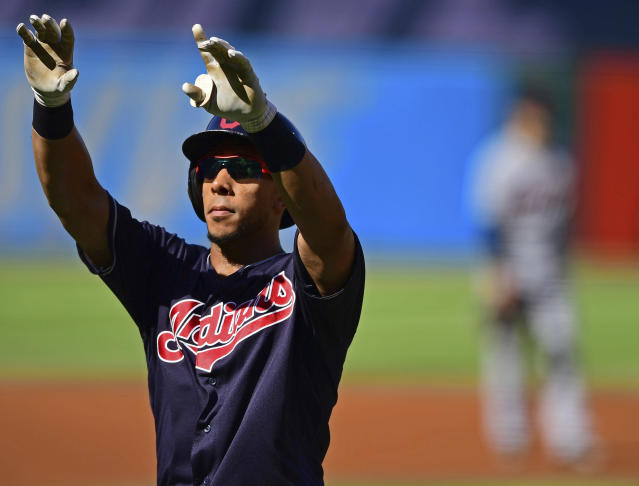 Michael Brantley's outfield defense leaves something to be desired. (AP)