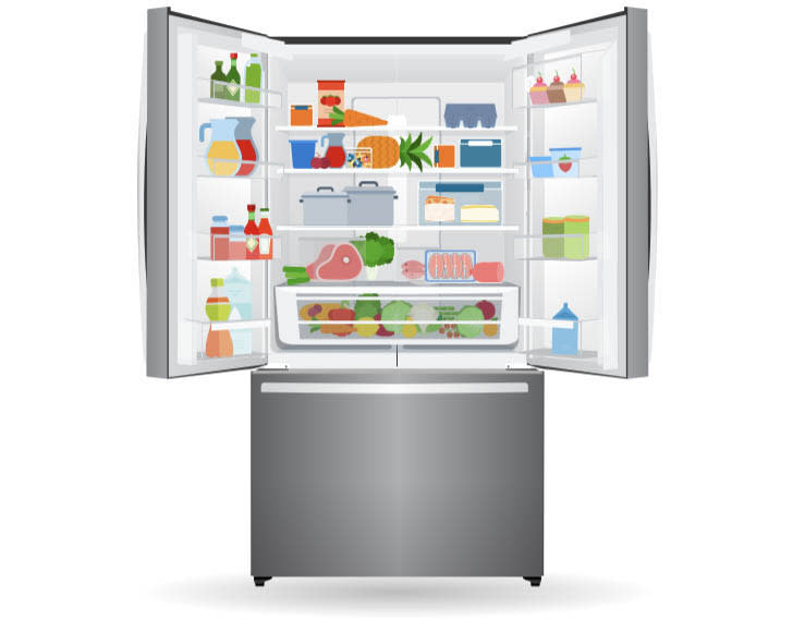 Infographic on how to stack your fridge properly