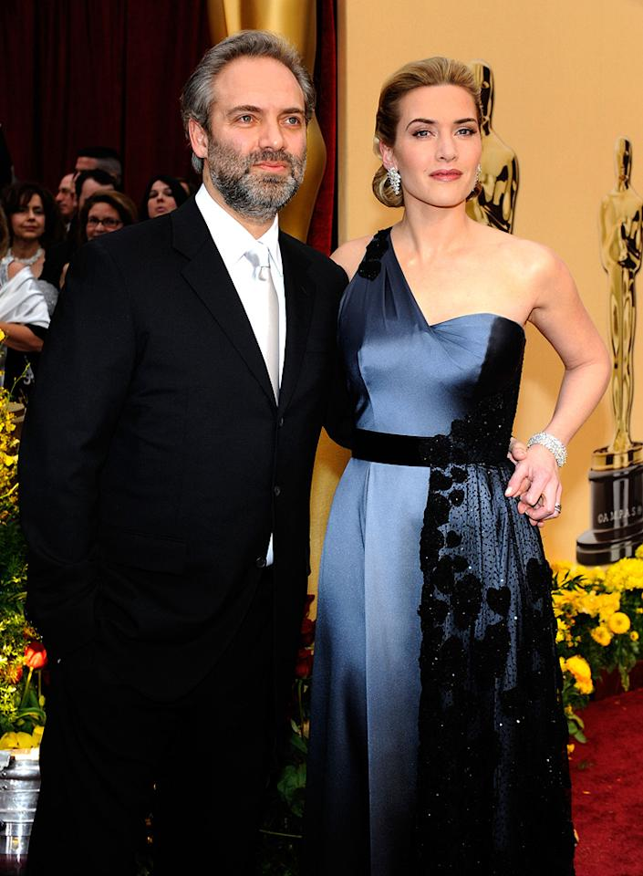 """<a href=""""http://movies.yahoo.com/movie/contributor/1800018631"""">Sam Mendes</a> and <a href=""""http://movies.yahoo.com/movie/contributor/1800019032"""">Kate Winslet</a> at the 81st Annual Academy Awards - 02/22/2009"""