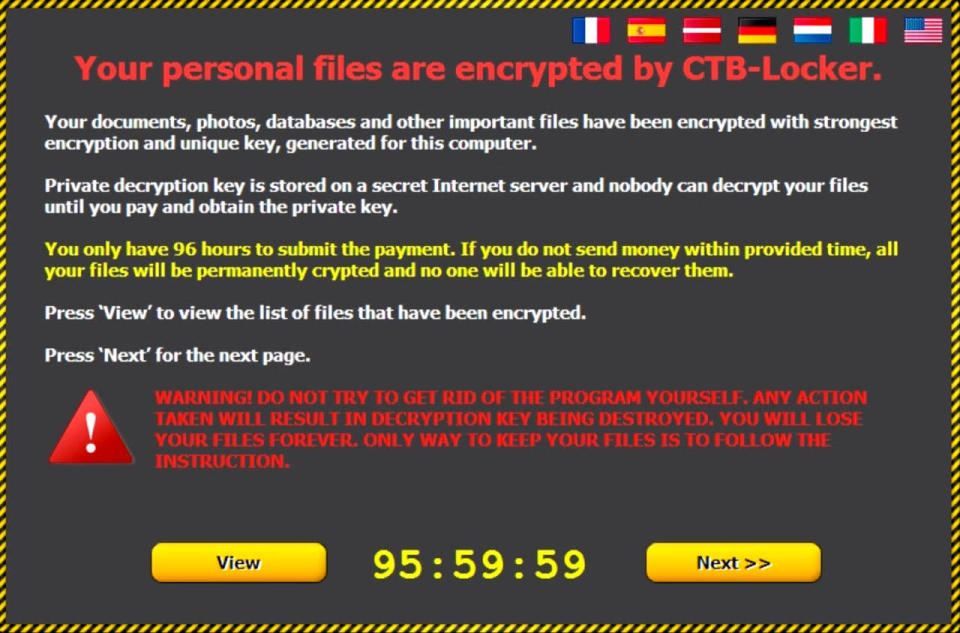 Yes, your files are locked. It's a bad day.