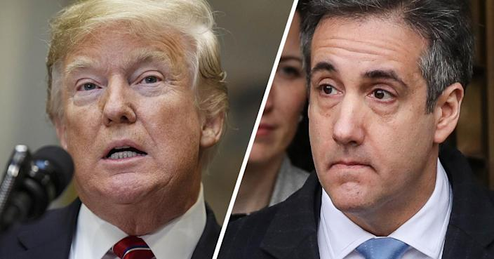 President Trump and Michael Cohen (Photos: Joshua Roberts/Bloomberg via Getty Images, Drew Angerer/Getty Images)