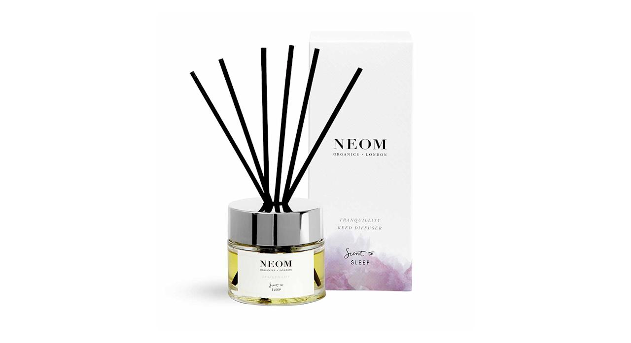 """<p>So you've tried everything from silky pillows to hot bubble baths, why not invest in a reed diffuser? Our favourite? Neom offers a bedroom must-have which contains the likes of sleep-inducing lavender and jasmine. <em><a rel=""""nofollow"""" href=""""https://www.neomorganics.com/tranquillity-reed-diffuser.html"""">Neom</a>, £38</em> </p>"""