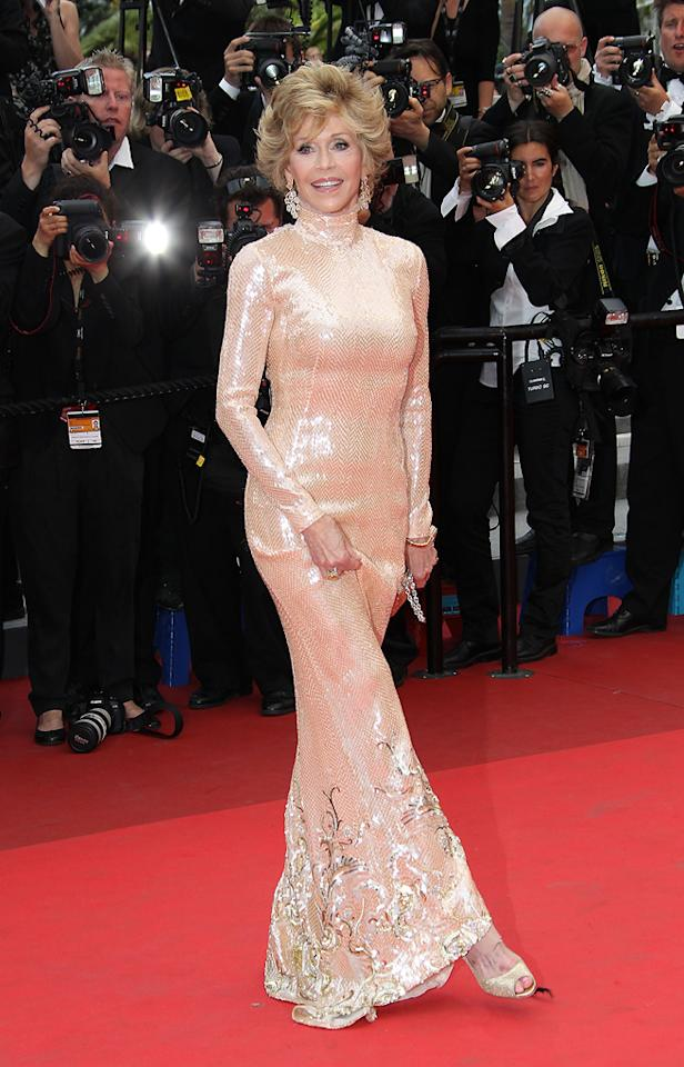 """<a href=""""http://movies.yahoo.com/movie/contributor/1800011729"""">Jane Fonda</a> attends the 64th Annual Cannes Film Festival premiere of """"Les Bien-Aimes"""" on May 22, 2011."""