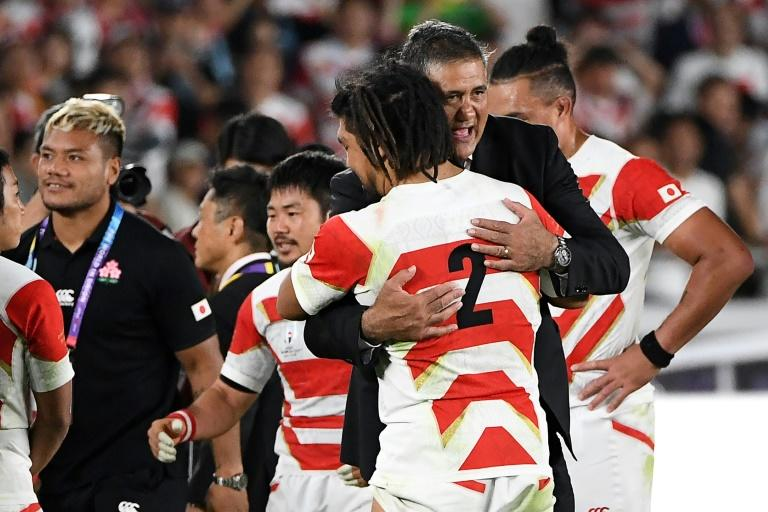 Japan reached the World Cup quarter-finals for the first time (AFP Photo/William WEST)