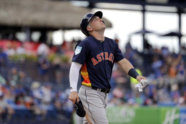Alex Bregman still remembers Game 4 of the ALCS against the Boston Red Sox. (AP)