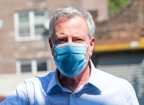 PHOTO: Mayor Bill de Blasio visits NYC Health+ Hospitals rapid testing site in the Bronx, Sept. 8, 2020. (Lev Radin/Pacific Press/LightRocket via Getty Images, FILE)