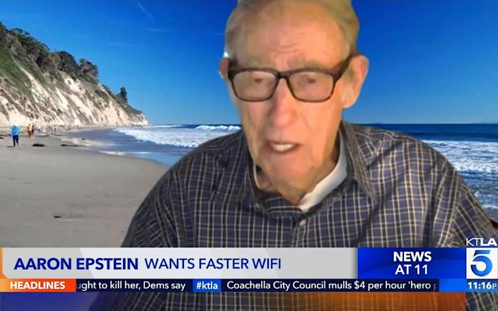 Aaron Epstein was able to do live broadcast interviews after his internet was upgraded