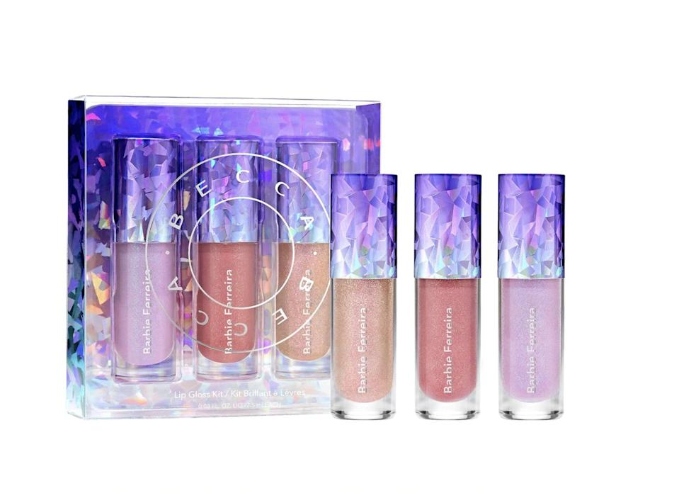 <p>If you can't decide on your favorite lip gloss shade, the <span>Mini Barbie Ferriera Prismatica Lip Gloss Set</span> ($20) is the perfect present.</p>