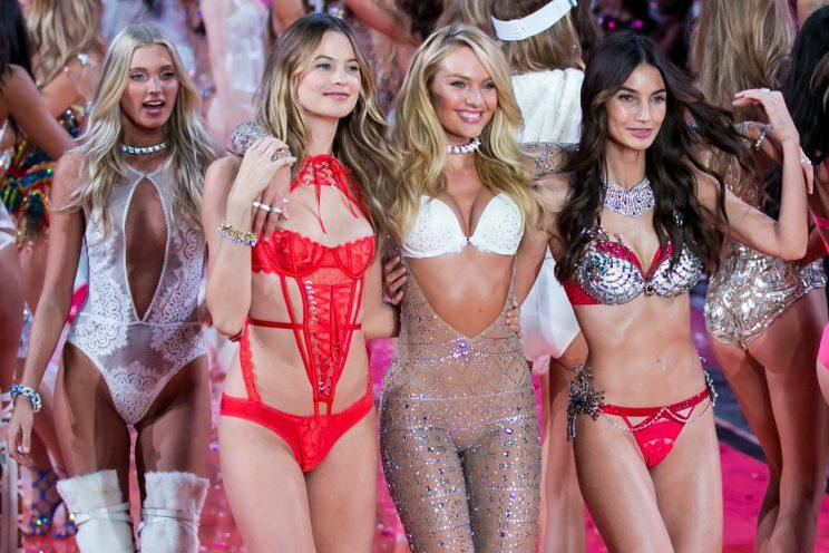 0c23e2f433b Behati and Candice. Behati and Candice. Behati Prinsloo and Candice  Swanepoel walk the runway during the finale of the 2015 Victoria s Secret  Fashion Show ...