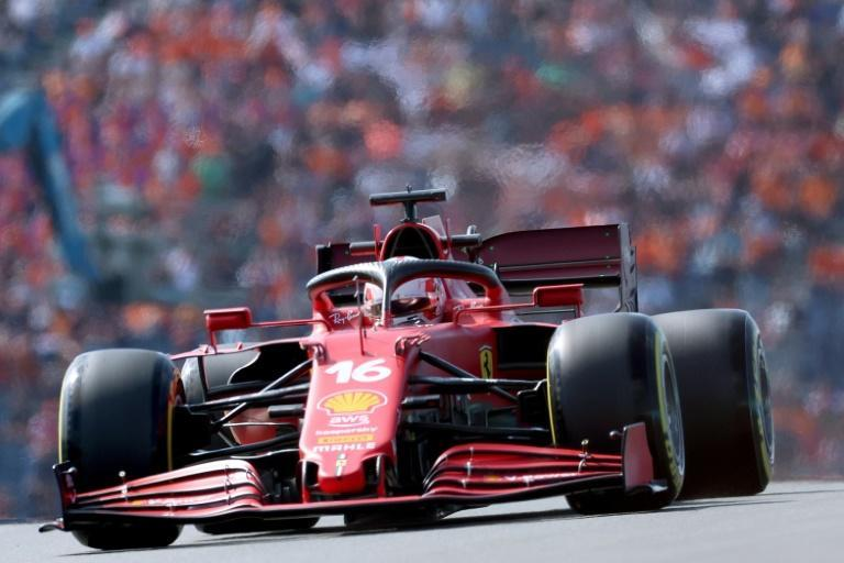 Ferrari's Charles Leclerc topped practice for the Dutchy GP on Friday (AFP/KENZO TRIBOUILLARD)