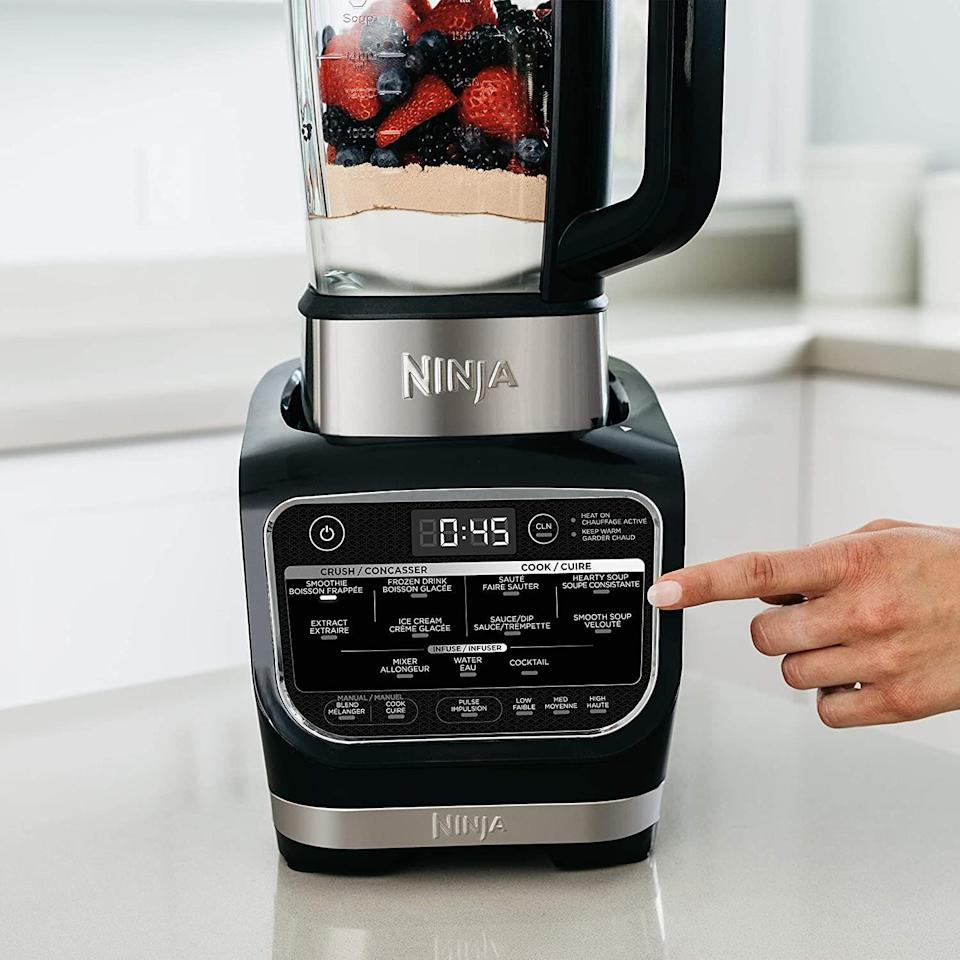 "Blenders aren't just for smoothies anymore. Get yourself a blender that can do both — mixing up the cold <i>and</i> the hot. This Ninja Foodi blender can make margaritas, create cheese fondue and craft a cocktail or two. It comes with stainless steel blades and 12 different programs. With more than 1,000 reviews, it's a good option to have in your kitchen. <a href=""https://amzn.to/3lHMsrg"" target=""_blank"" rel=""noopener noreferrer"">Originally $170, get it now for $130 at Amazon</a>."