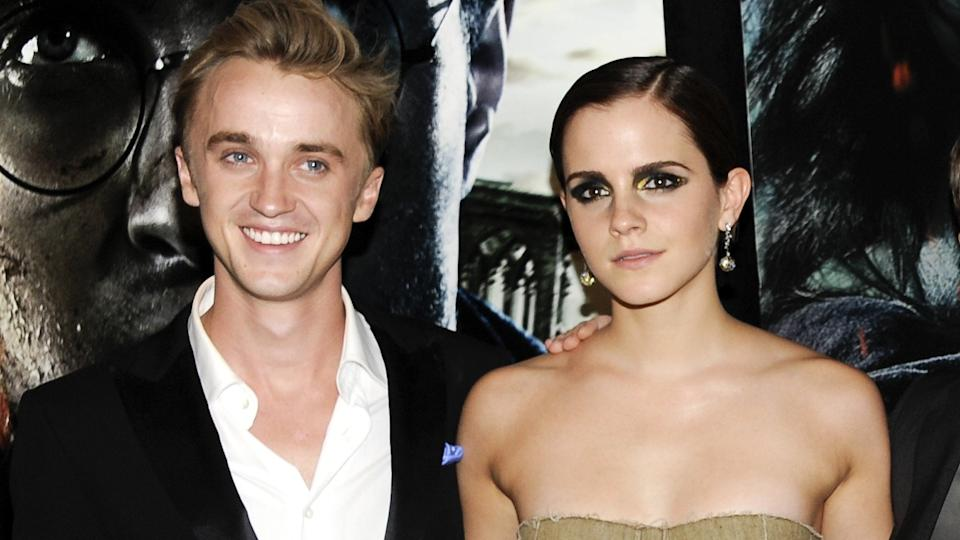 Tom Felton and Emma Watson in 2011 (AP/Evan Agostini)