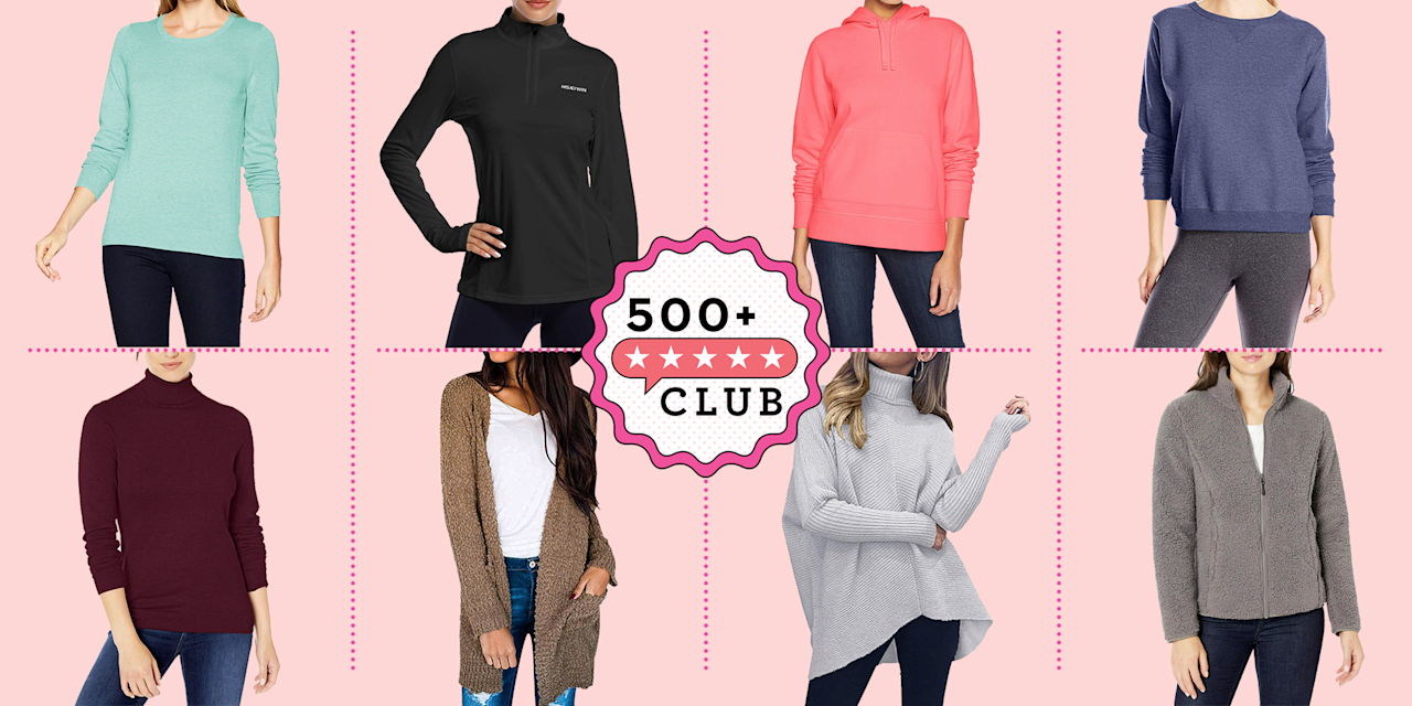 """<p><em><a href=""""https://www.goodhousekeeping.com/best-amazon-finds/"""" target=""""_blank"""">The 500+ Club </a>helps take the guesswork out of shopping on Amazon. The product experts at Good Housekeeping have vetted the below products to ensure they're worth your money. Each one boasts at least 500 reviews and a minimum 4-star rating from real, verified reviewers, so you can trust that you're purchasing products that actually work, according to users and experts.</em></p><hr><p>Fall will be here before you know it, which means it's time to take your <a href=""""https://www.goodhousekeeping.com/beauty/fashion/g28209987/cute-fall-sweaters/"""" target=""""_blank"""">favorite sweaters</a> out of storage. And let's face it, once the cool weather hits, there's no such thing as too many sweaters. Not only are they insanely comfortable, but they can also be dressed up or down to your liking. If you want to add some new sweaters to your growing rotation, you're in luck. We're sharing nine of Amazon's most popular sweaters. From crewnecks to fuzzy zips, and everything in between, you're just a few clicks away from upgrading your autumn wardrobe. </p>"""