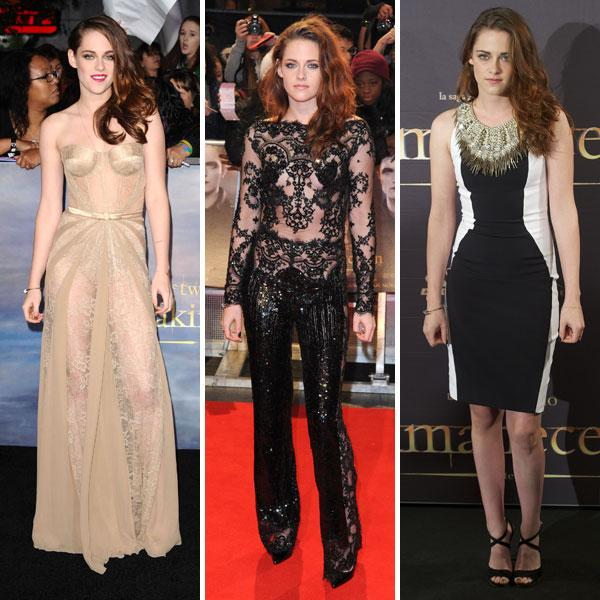 """<b>Kristen Stewart</b><br><br>The Twilight actress had a week of fashion hits on the promo trail for The Twilight Saga: Breaking Dawn Part 2. <a target=""""_blank"""" href=""""http://uk.lifestyle.yahoo.com/photos/kristen-stewart-her-twilight-style-evolution-in-pictures-slideshow/"""">Kristen</a> first led the nude trend in a AW12 Zuhair Murad lace gown for the film's <a target=""""_blank"""" href=""""http://uk.lifestyle.yahoo.com/kristen-stewart-leads-the-nude-trend-at-twilight-saga--breaking-dawn-part-2-premiere-in-favourite-designer-zuhair-murad-.html"""">LA premiere</a>, before wearing a black lace jumpsuit from the designer's same collection for the <a target=""""_blank"""" href=""""http://uk.lifestyle.yahoo.com/kristen-stewart-twilight-breaking-dawn-premiere-fashion-jumpsuit-outfit-red-carpet.html"""">London premiere</a>. She rounded it off with a Julien Macdonald SS13 optical illusion dress for the film's <a target=""""_blank"""" href=""""http://uk.lifestyle.yahoo.com/kristen-stewart-wows-in-another-optical-illusion-dress-for-the-twilight-saga--breaking-dawn-photocall-in-madrid.html"""">Madrid photocall</a>. <br><br><b>[Related: <a target=""""_blank"""" href=""""http://uk.lifestyle.yahoo.com/photos/top-10-best-dressed-celebrities-this-week-2-8-nov-slideshow/kristen-stewart-photo--432801586.html"""">Kristen Stewart - Top 10 best dressed celebrities this week (2-8 Nov)</a>]</b><br>"""