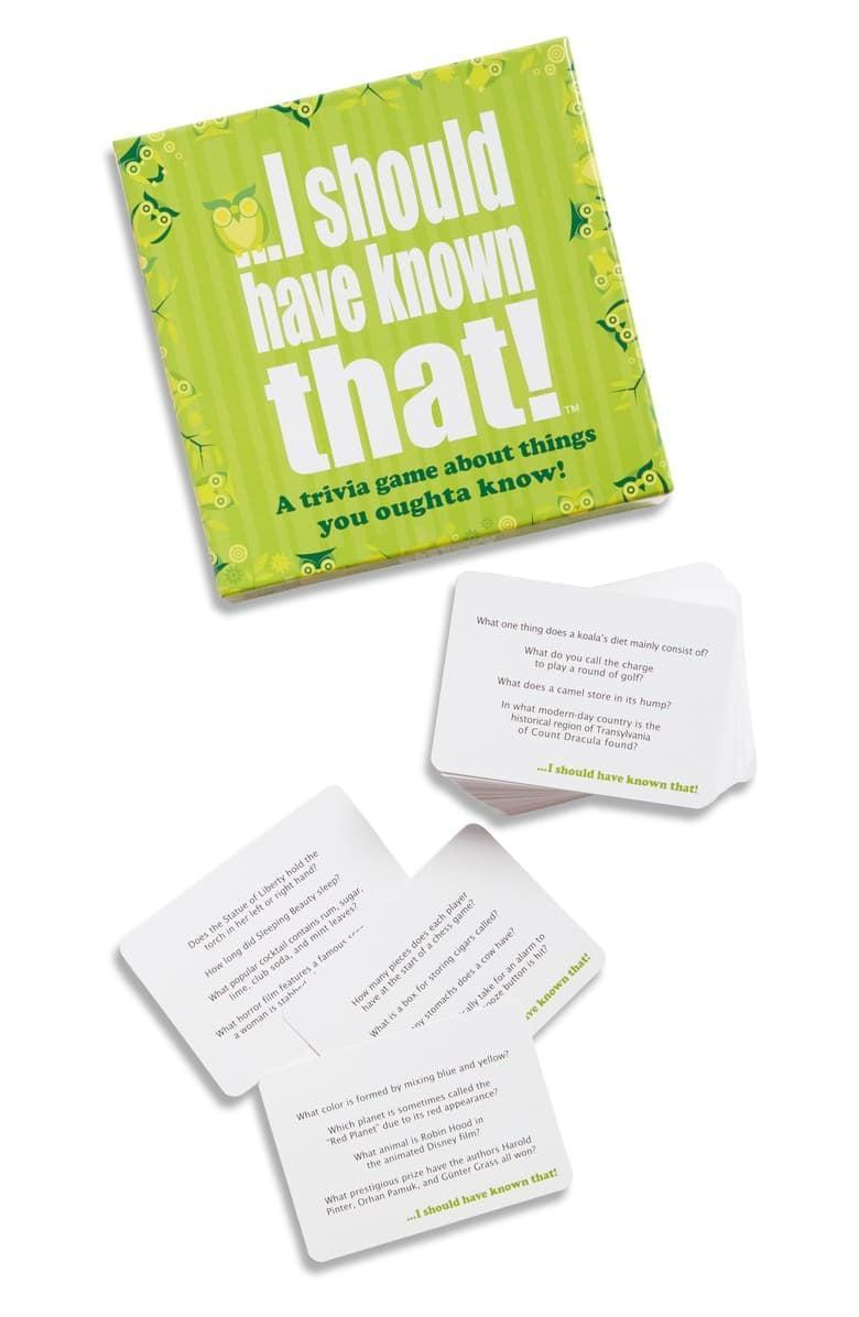 <p>This <span>Hygge Games I Should Have Known That Party Trivia Card Game</span> ($20) is perfect for the holidays.</p>